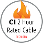 CI Rated 2 Hour Fire Rated Cable