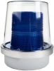 Alpha Communications 49B-N540WH 120vac Flashg Beac-W/Covr-Blue Can Be Used Indoors Or Outdoors
