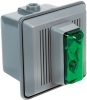 Alpha Communications 867-STRG-AQ 24vdc Strobe Unit-W/Horn-Green Can Be Used Indoors Will Operate On 24vac Or 24vdc