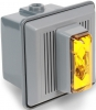 Alpha Communications 868-STRA-AQ 24vdc Outd Strobe-W/Horn-Amber Can Be Used Outdoors Will Operate On 24vac Or 24vdc Rated: 90 Cd
