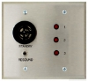 Alpha Communications A-4003A 3 Zone Vis. Annunciator-2 Gang Requires 2-Gang Electrical Back Box Or Plaster Ring Stainless Steel Finish