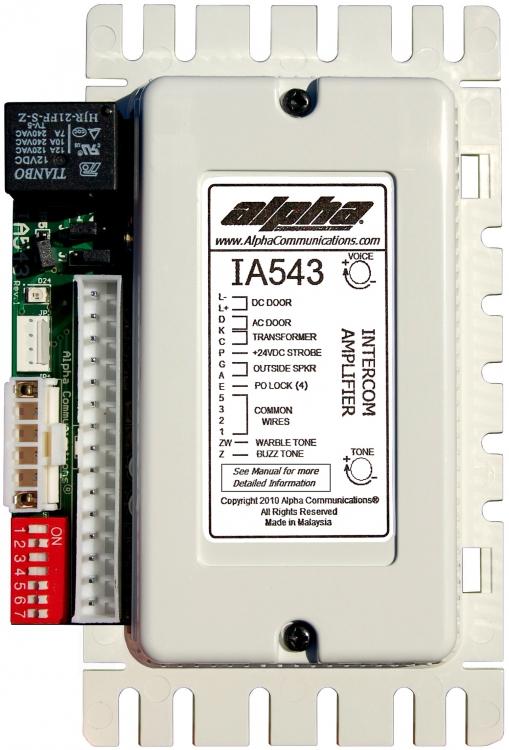 alpha communications pk543 5 4 3 wire apt amplif 2 tones