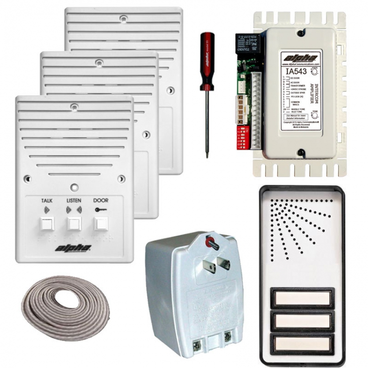 750 alpha communications™ ik543 3s 3 unit apt intercom kit wire Basic Electrical Wiring Diagrams at gsmx.co