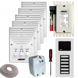alpha communications™ 5 unit apt intercom kit wire apple core ace543 at Alpha Ia543 Wiring Diagram