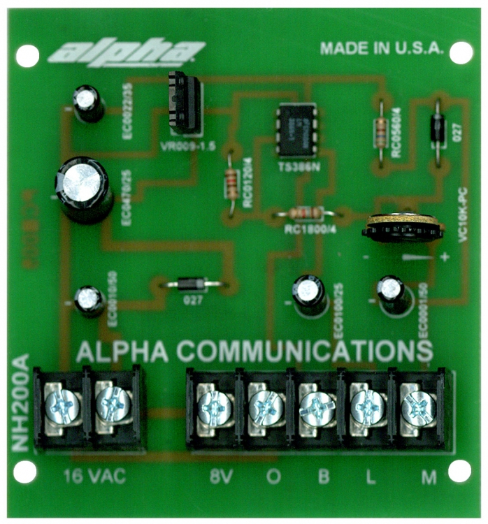 750 alpha communications™ nh200tv 5 wire apt ampl power supply str elektronik nh 200 tv wiring diagram at webbmarketing.co