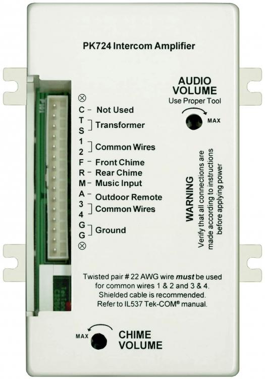Alpha Communications Pk724 Tek Com Amplifier W Chime Sig