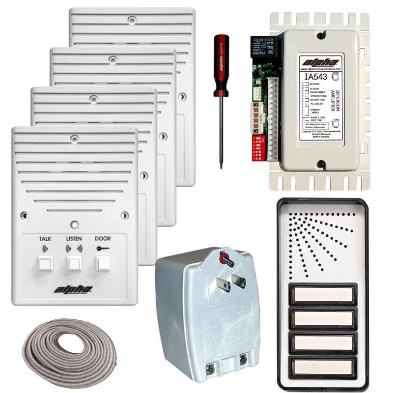 APTKITS alpha communications™ apartment intercom kits choose from 8 low 3 wire intercom wiring diagram at cos-gaming.co