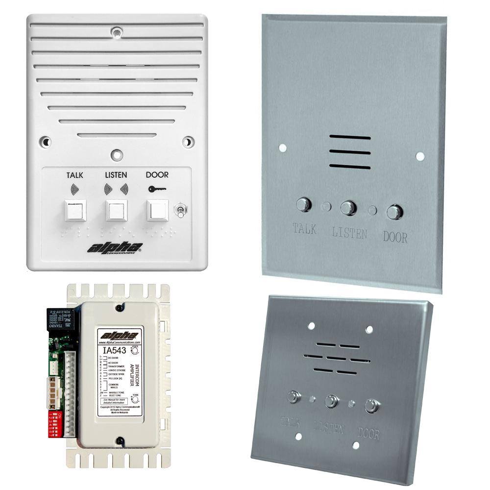 Alpha Communications Audio Only Intercom Rewiring Old Doorbell Open Voice Loud Speaking Type Apartment Intercoms